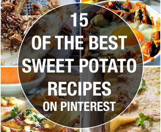 15 of the best sweet potato recipes on Pinterest