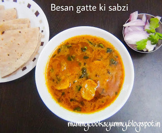 Gatte ki sabzi / Besan gatte ki sabzi / How to make Besan Gatte curry