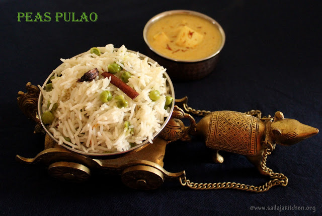 Green Peas Pulao / Peas Pulao Recipe / Matar Pulao - Rice Recipes