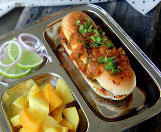 Masala Pav Bhaji - Mumbai style masala pav - Masala pav - Snack recipe - street food recipes - Chaat recipes