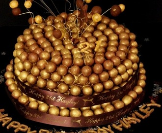 Gilded Chocolate and Caramel Maltesers Ombre Cake !  #chocolate #21stBirthday #Milestone #Sinful #Daughter