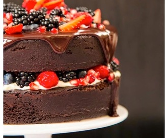 Bolo pelado de chocolate / Naked Cake de Chocolate