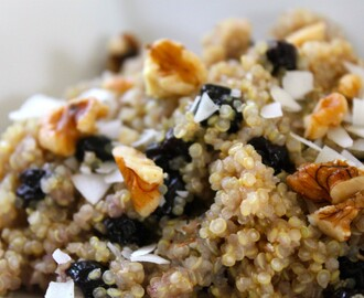Blueberry Coconut Breakfast Quinoa (Gluten Free)
