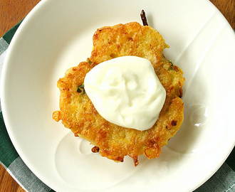 Food Network Magazine's Zucchini-Corn Fritters