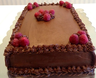 Dark Chocolate Raspberry Dream Cake