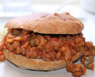 Vegetariska sloppy Joes med linser