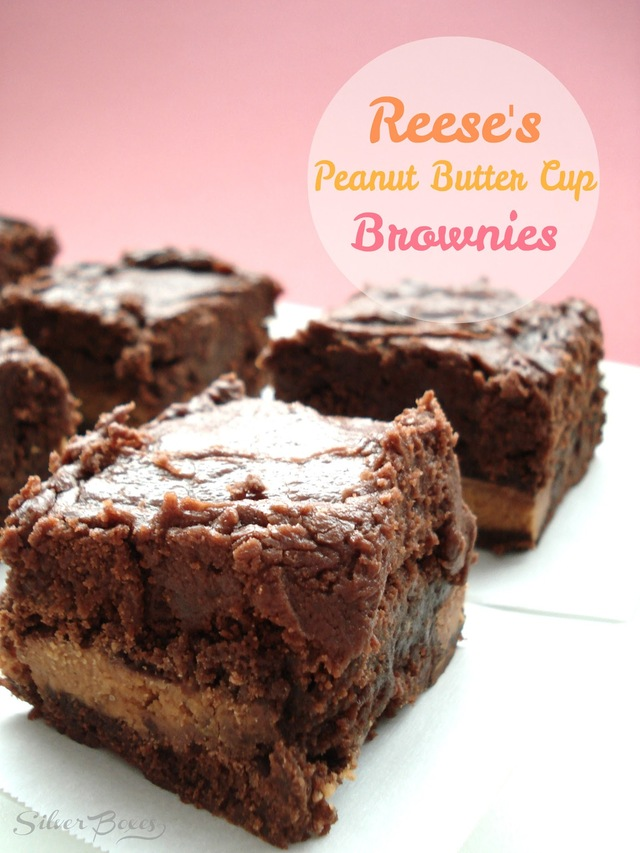 Reese's Peanut Butter Cup Brownies with Peanut Butter Chocolate Frosting