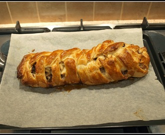 Budget recipe - Pork and apple plait