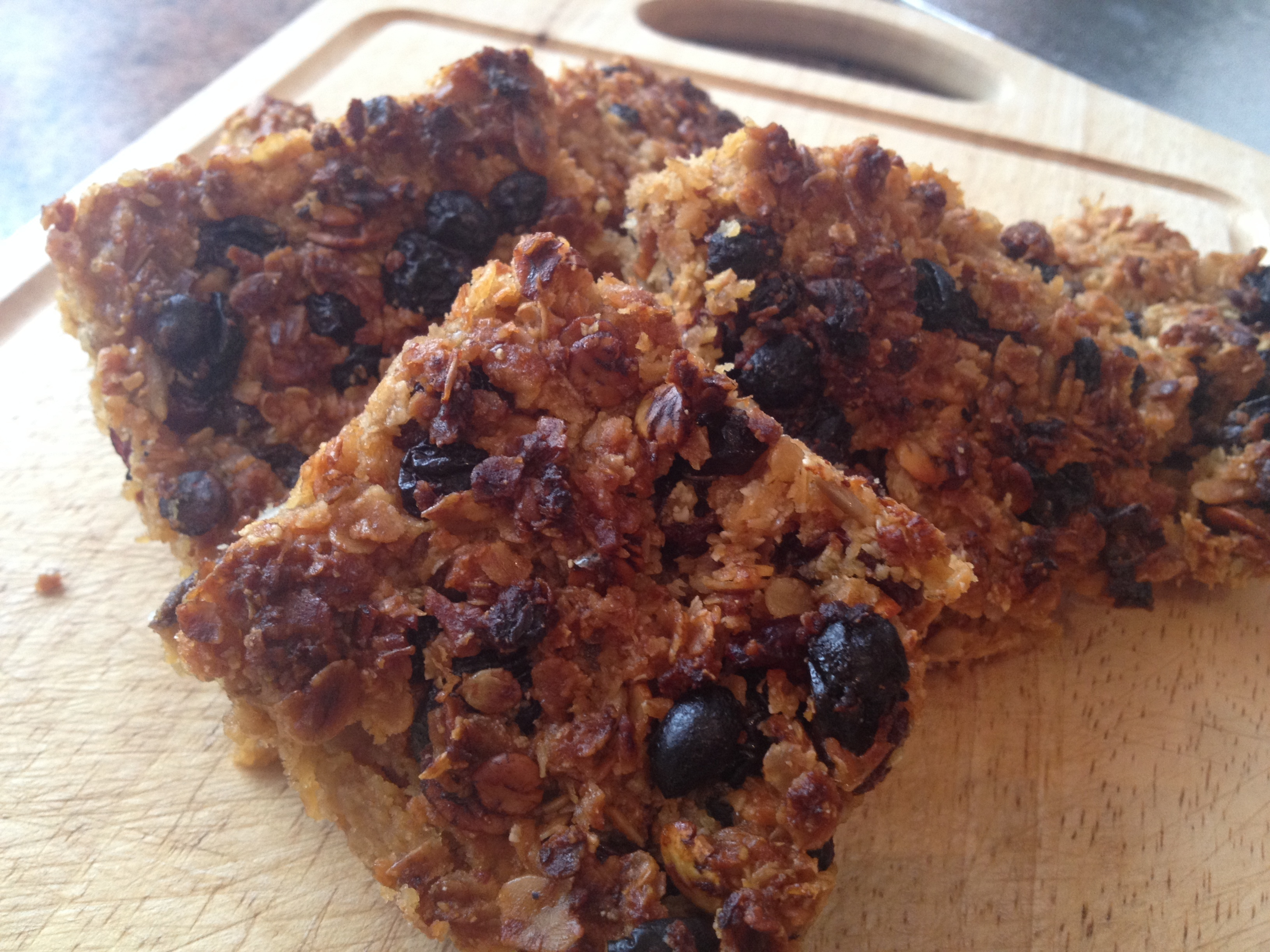 Gluten and dairy free fruit flapjack