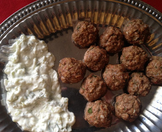 Greek Meatballs with Tzatziki Sauce