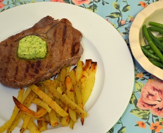 Steak with Garlic & Herb Butter & a Cafe Rouge Giveaway!