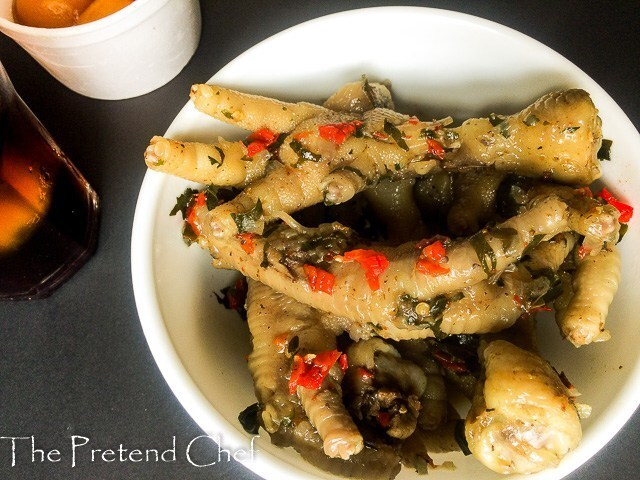 Peppered chicken feet (Chicken claws)