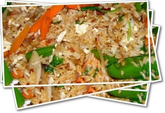 Thai Veg Fried Rice with Eggs