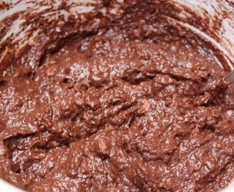 Vegan chocolade broodpudding