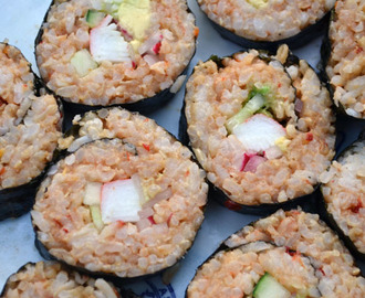 Homemade Sushi with Spicy Rice
