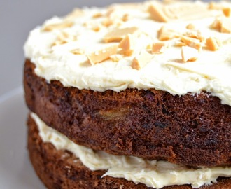 Pear and Courgette Cake with Salted Caramac Frosting