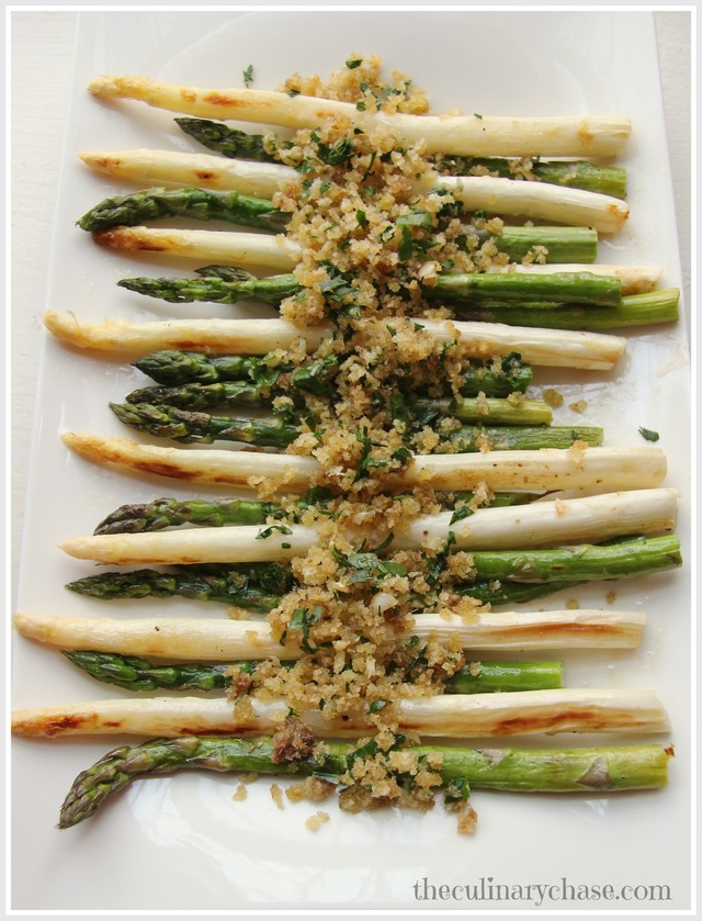 Roasted Asparagus with Anchovy Panko-Garlic Topping