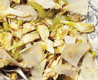Raw Artichoke Salad with Celery and Parmesan