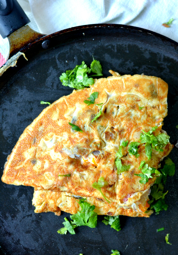 Indian Masala Omelette | Healthy breakfast recipes