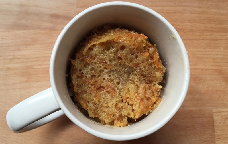 Carrot cake in a mug recipe how to