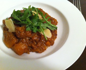 Butternut Squash Risotto with Arugula