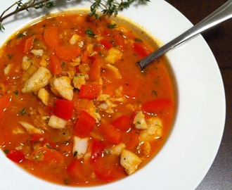 Light Tomato-Based Fish Soup