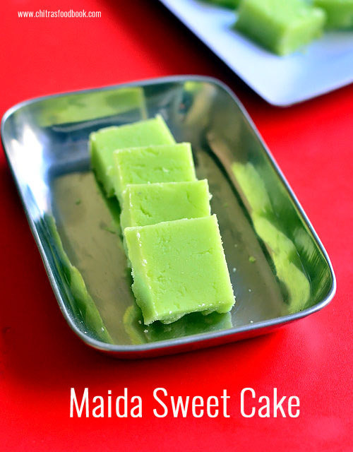 Maida Burfi Recipe – Maida Sweet Cake - Easy Maida Sweets For Diwali