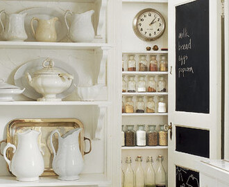Pantry Reorganization + Chalkboard Door