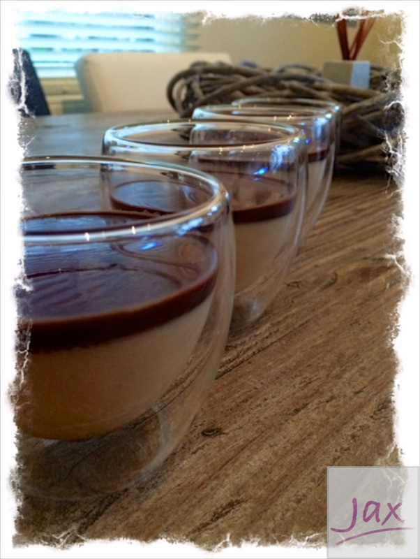 Bailey's en chocolade pannacotta