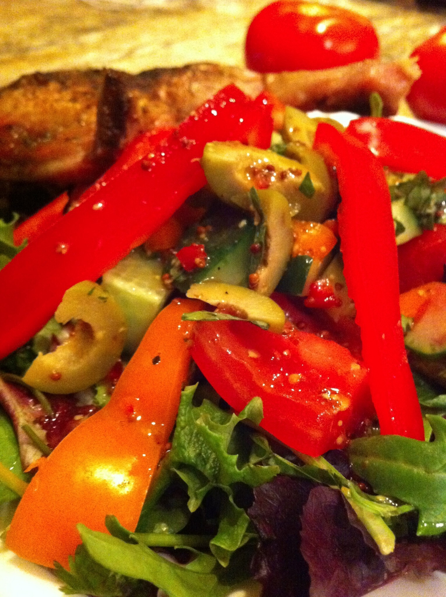 Easy to Make Individual Salad with Chilli Dijon Salad Dressing
