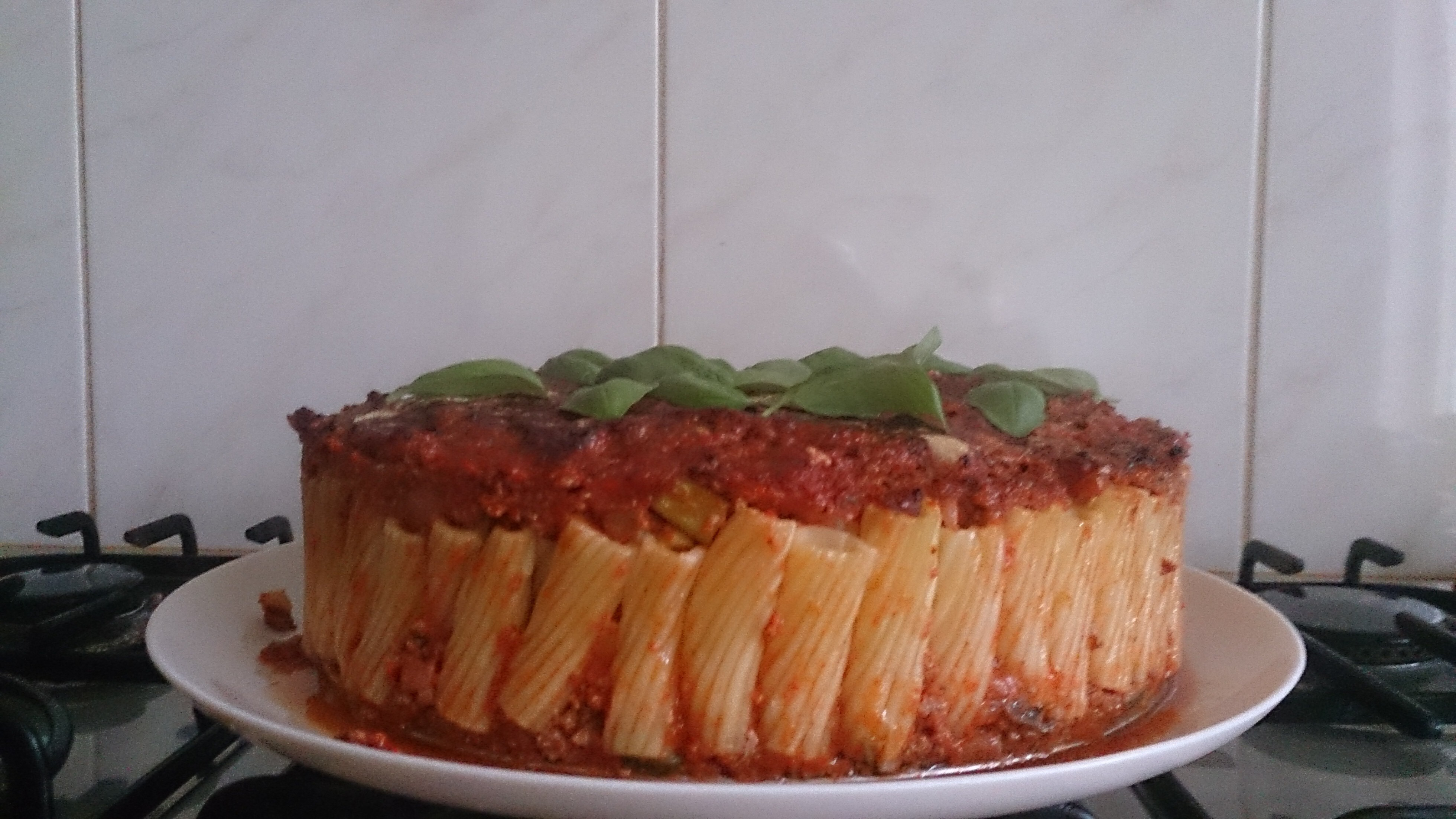 Pasta bolognese taart