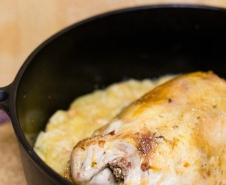 Recipe | Cider-Braised Pheasant with Shallots, Apples & Thyme