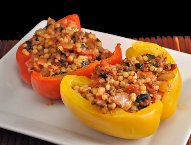 Stuffed Peppers with Beef and Fennel