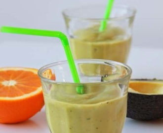 Smoothie met avocado & mint