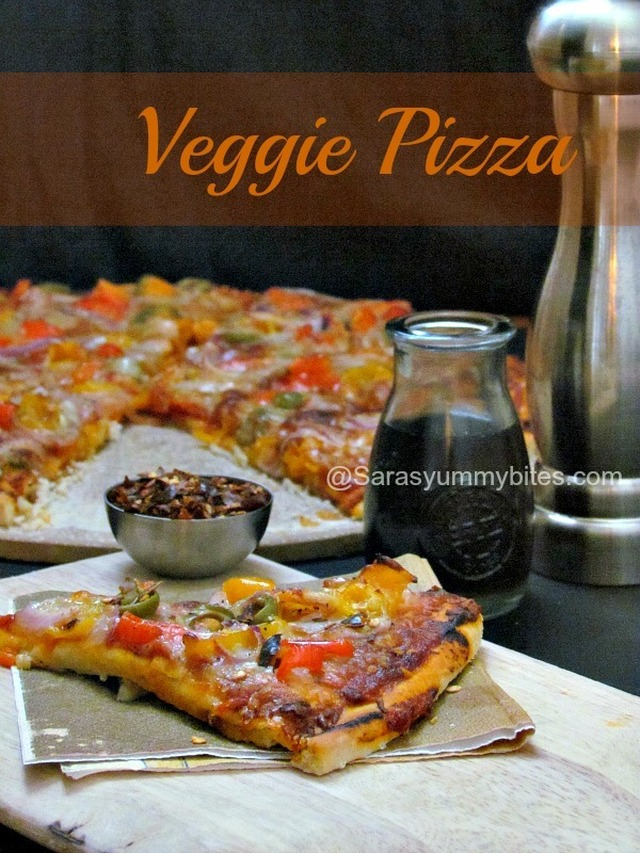 Thin Crust Veggie Pizza