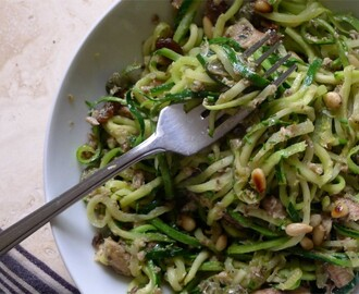 Sicilian Sardine Courgetti with Sultanas & Pine Nuts