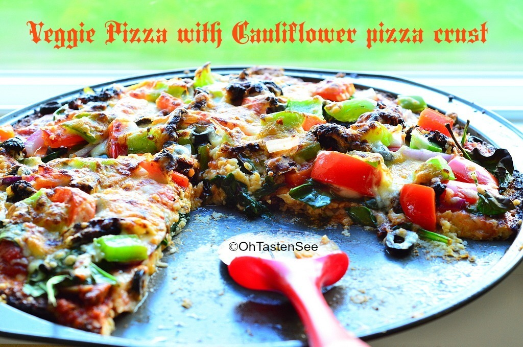Cauliflower Pizza Crust – Veggie Pizza