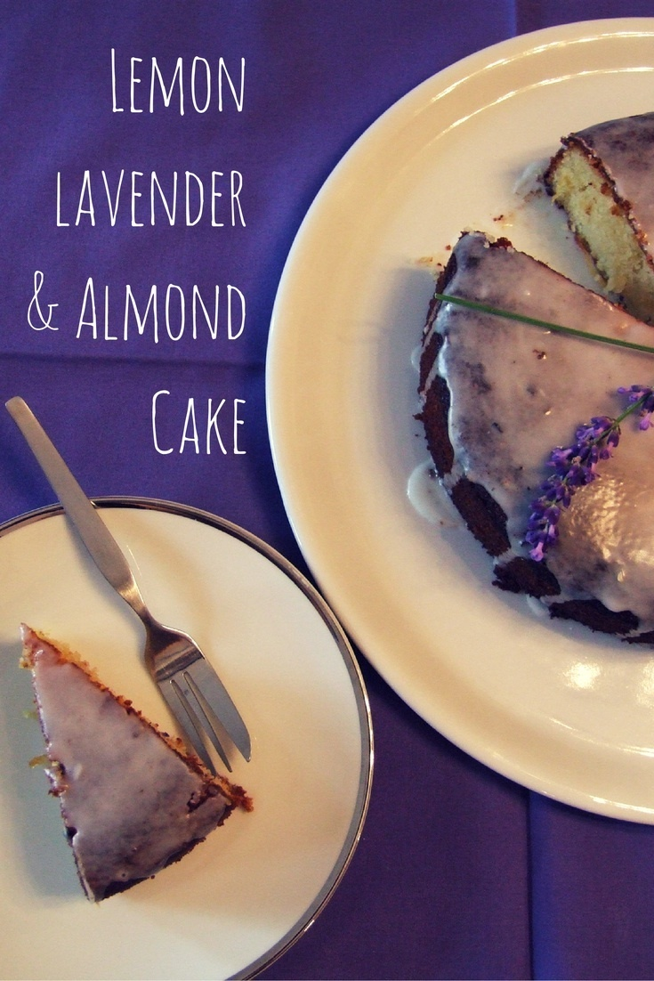 Lemon, lavender and almond cake – gluten free