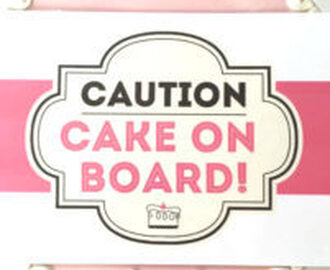 Cake on Board Sign