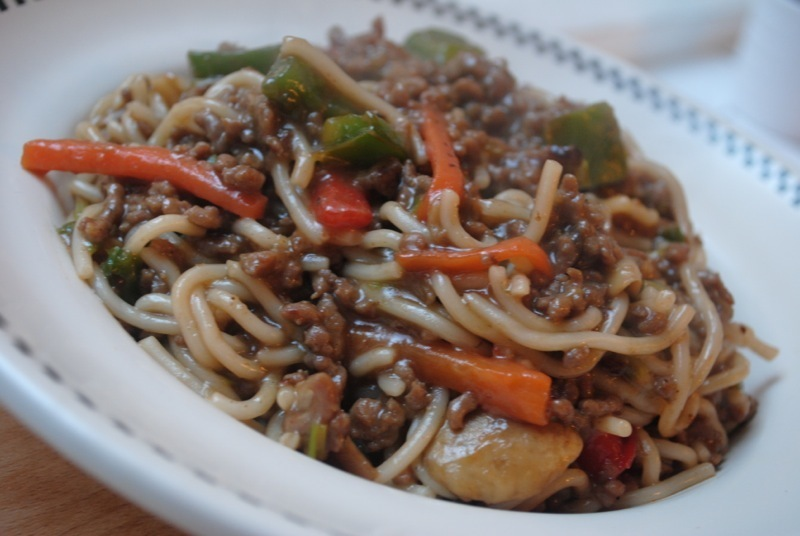Chinese beef noodle stir fry recipe