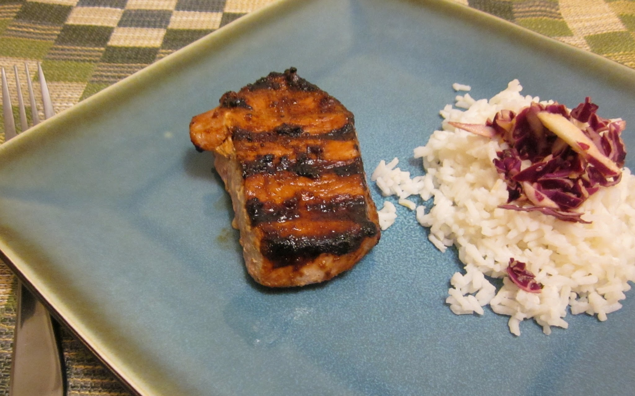 Gluten Free Grilled Ginger Pork with Asian Slaw #WeekdaySupper