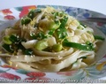 Fettuccine with Spring Onions and Soya Bean : IHCC
