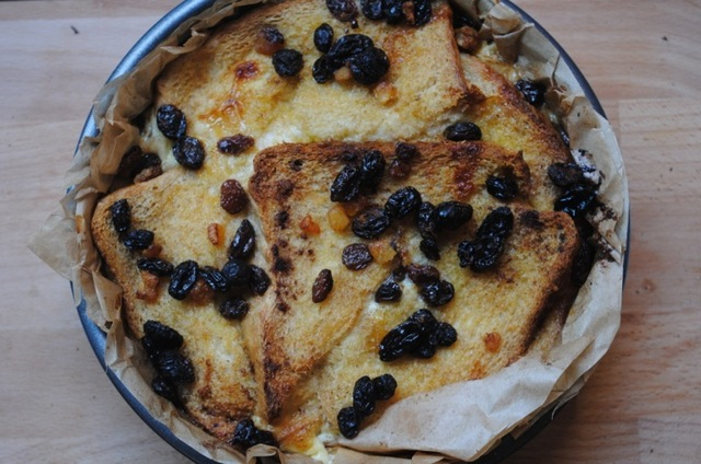 Bread and butter pudding student recipe