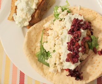 "1/8 Greek: ""Gyros"" with Homemade Tzatziki"