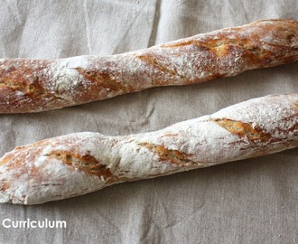 Baguettes tradition maison (recette d'Eric Kayser) (Homemade tradition chopsticks (recipe from Eric Kayser)