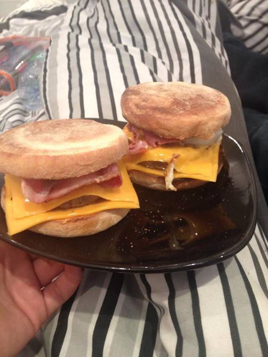 McMuffin recipe! Sausage, bacon and egg breakfast muffin