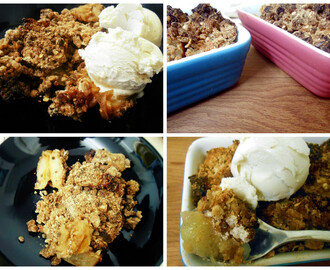Spiced Maple Pear Crumble