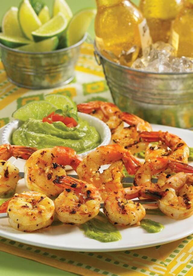 Grilled Shrimp with Avocado Butter and 200 Easy Mexican Recipe Cookbook Giveaway