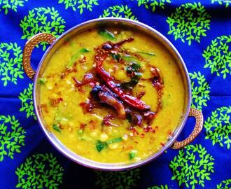 Palak Dal Fry (Lentils with Spinach)