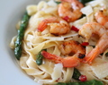 Grilled Shrimp & Asparagus Pasta in a Creamy Lemon Sauce